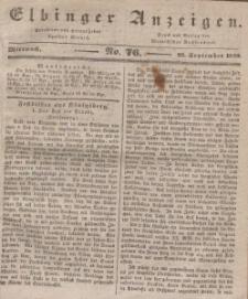 Elbinger Anzeigen, Nr. 76. Mittwoch, 23. September 1840