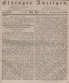 Elbinger Anzeigen, Nr. 78. Mittwoch, 30. September 1840