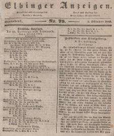 Elbinger Anzeigen, Nr. 79. Sonnabend, 3. Oktober 1840