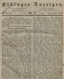Elbinger Anzeigen, Nr. 7. Mittwoch, 26. Januar 1842