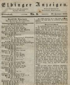 Elbinger Anzeigen, Nr. 8. Sonnabend, 29. Januar 1842
