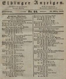 Elbinger Anzeigen, Nr. 24. Sonnabend, 26. März 1842