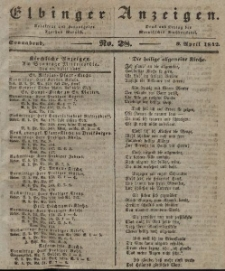 Elbinger Anzeigen, Nr. 28. Sonnabend, 9. April 1842
