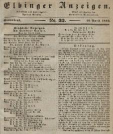 Elbinger Anzeigen, Nr. 32. Sonnabend, 23. April 1842
