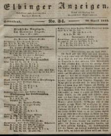 Elbinger Anzeigen, Nr. 34. Sonnabend, 30. April 1842