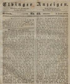 Elbinger Anzeigen, Nr. 43. Mittwoch, 1. Juni 1842