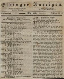 Elbinger Anzeigen, Nr. 44. Sonnabend, 4. Juni 1842