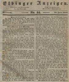 Elbinger Anzeigen, Nr. 51. Mittwoch, 29. Juni 1842