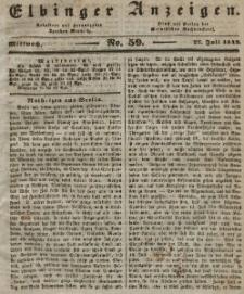Elbinger Anzeigen, Nr. 59. Mittwoch, 27. Juli 1842