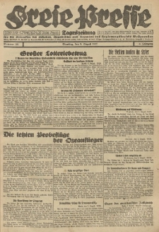 Freie Presse, Nr. 101 Dienstag 9. August 1927 3. Jahrgang
