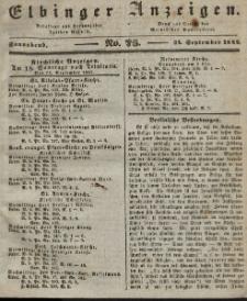 Elbinger Anzeigen, Nr. 76. Sonnabend, 24. September 1842