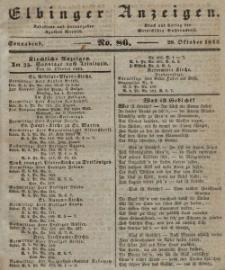 Elbinger Anzeigen, Nr. 86. Sonnabend, 29. Oktober 1842