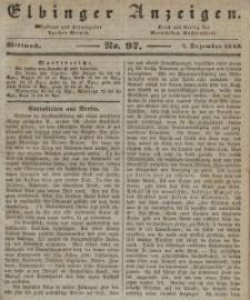 Elbinger Anzeigen, Nr. 97. Mittwoch, 7. Dezember 1842