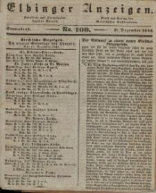 Elbinger Anzeigen, Nr. 100. Sonnabend, 17. Dezember 1842