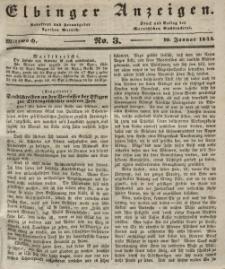 Elbinger Anzeigen, Nr. 3. Mittwoch, 10. Januar 1844