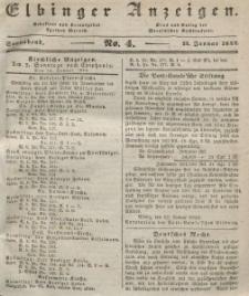 Elbinger Anzeigen, Nr. 4. Sonnabend, 13. Januar 1844