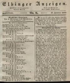 Elbinger Anzeigen, Nr. 8. Sonnabend, 27. Januar 1844