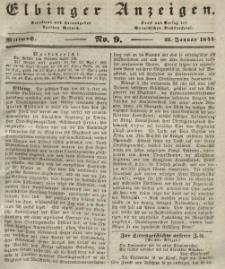 Elbinger Anzeigen, Nr. 9. Mittwoch, 31. Januar 1844