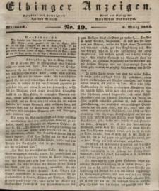Elbinger Anzeigen, Nr. 19. Mittwoch, 6. März 1844