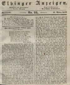 Elbinger Anzeigen, Nr. 25. Mittwoch, 27. März 1844