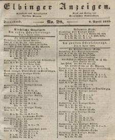 Elbinger Anzeigen, Nr. 28. Sonnabend, 6. April 1844