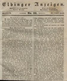 Elbinger Anzeigen, Nr. 31. Mittwoch, 17. April 1844