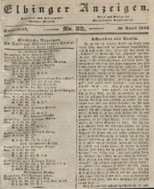 Elbinger Anzeigen, Nr. 32. Sonnabend, 20. April 1844