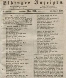 Elbinger Anzeigen, Nr. 33. Mittwoch, 24. April 1844