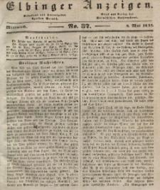 Elbinger Anzeigen, Nr. 37. Mittwoch, 8. Mai 1844