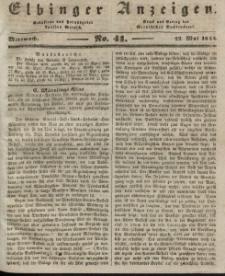 Elbinger Anzeigen, Nr. 41. Mittwoch, 22. Mai 1844