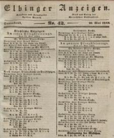 Elbinger Anzeigen, Nr. 42. Sonnabend, 25. Mai 1844