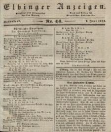 Elbinger Anzeigen, Nr. 44. Sonnabend, 1. Juni 1844