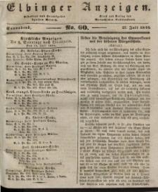 Elbinger Anzeigen, Nr. 60. Sonnabend, 27. Juli 1844