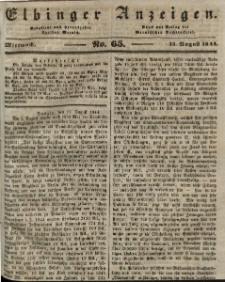 Elbinger Anzeigen, Nr. 65. Mittwoch, 14. August 1844