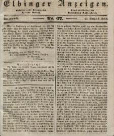 Elbinger Anzeigen, Nr. 67. Mittwoch, 21. August 1844