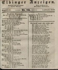 Elbinger Anzeigen, Nr. 80. Sonnabend, 5. Oktober 1844