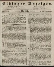 Elbinger Anzeigen, Nr. 81. Mittwoch, 9. Oktober 1844