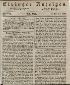 Elbinger Anzeigen, Nr. 83. Mittwoch, 16. Oktober 1844
