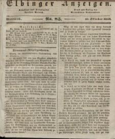 Elbinger Anzeigen, Nr. 85. Mittwoch, 23. Oktober 1844