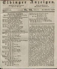 Elbinger Anzeigen, Nr. 86. Sonnabend, 26. Oktober 1844