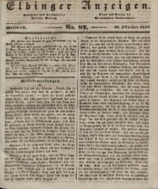 Elbinger Anzeigen, Nr. 87. Mittwoch, 30. Oktober 1844