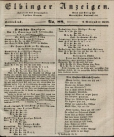 Elbinger Anzeigen, Nr. 88. Sonnabend, 2. November 1844