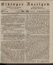 Elbinger Anzeigen, Nr. 89. Mittwoch, 6. November 1844