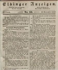 Elbinger Anzeigen, Nr. 93. Mittwoch, 20. November 1844