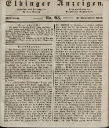 Elbinger Anzeigen, Nr. 95. Mittwoch, 27. November 1844