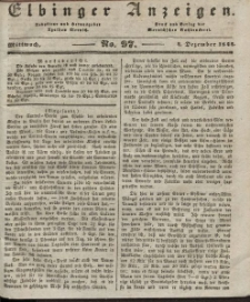 Elbinger Anzeigen, Nr. 97. Mittwoch, 4. Dezember 1844