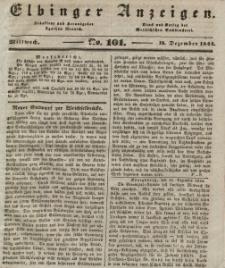 Elbinger Anzeigen, Nr. 101. Mittwoch, 18. Dezember 1844