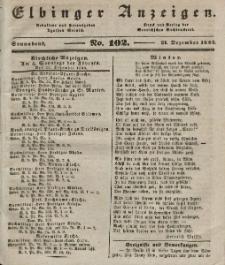 Elbinger Anzeigen, Nr. 102. Sonnabend, 21. Dezember 1844