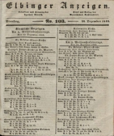 Elbinger Anzeigen, Nr. 103. Dienstag, 24. Dezember 1844