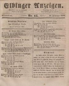 Elbinger Anzeigen, Nr. 15. Sonnabend, 22. Februar 1845